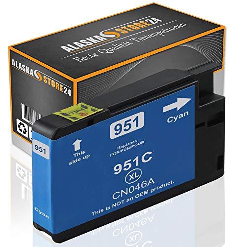 Alaskaprint 1x Druckerpatrone Kompatibel für hp 951 XL 951xl Blau Cyan für HP Officejet Pro8600, 8610, 8620, 251dw, 8100 276dw