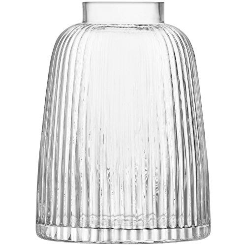 LSA PT05 Vase Pleat, hauteur 26 cm, transparent