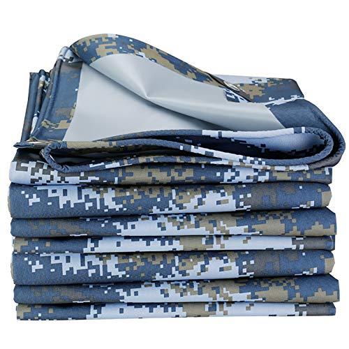 SFGSA Toldo con revestimiento de camuflaje oceánico de 0,35 mm, 400 g/m2, impermeable, para casa, de perro, tela impermeable, 1,5 x 3 m