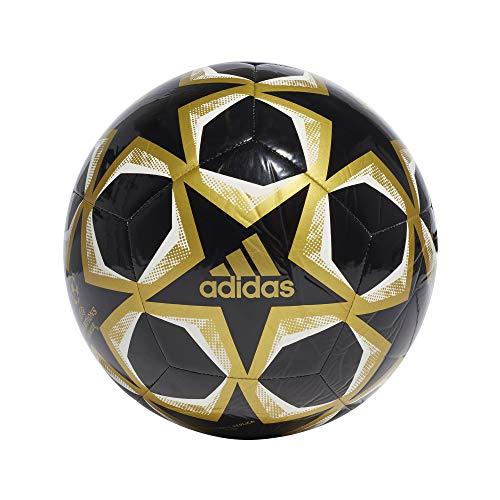 adidas UCL Finale 20 Club, Pallone da Calcio Unisex Adulto, Nero/Oro Met./White, 5