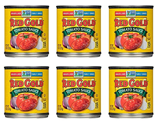 Red Gold Tomato Sauce, 8oz Can (Pack of 6)