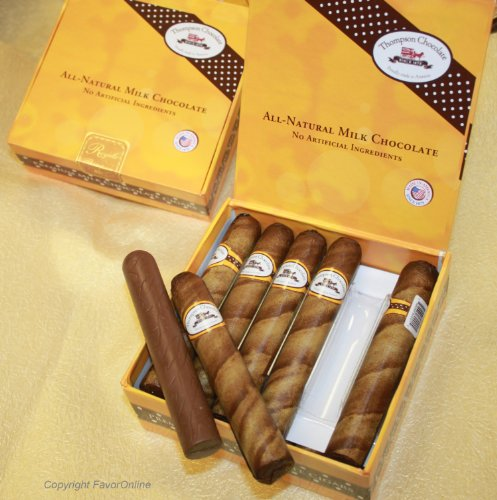 Royale Chocolate Cigars in Cigar Box pack of 12