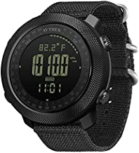 AVTREK Men's Outdoor Sport Tactical Watches Digital Wrist Watch Multifunctional Smart Watch Swimming Military Army Watches Altimeter Barometer Compass Waterproof 50m for Mountaineering