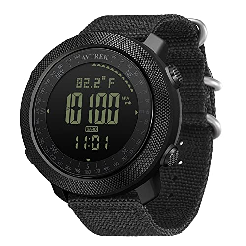 AVTREK Mens Outdoor Sport Tactical Survival Watches Hiking Digital Wrist Watch Smart Swimming Military Army Altimeter Barometer Compass Watches