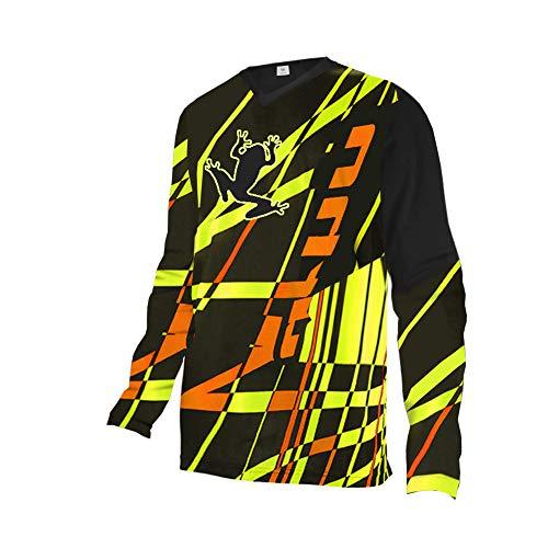 UglyfrogMX Jersey Street Rebel Orange - Langarm Funktions-Shirt Für Moto-Cross, BMX, Mountain Bike, Offroad Winter Thermo MTB Downhill Jersey DEHerDownMKZR02