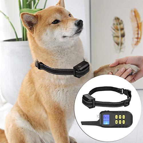XQAQX Dispositivo antiladridos, tapón de ladridos para Perros, Collar de Entrenamiento de Control Remoto eléctrico para Mascotas, Repelente de ladridos de Perro Recargable 1000M