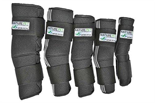 NATURE PET Sprunggelenk Schutz Bandage 165° Winkel für Hunde/Tarsalgelenk Bandage für Hunde (M)