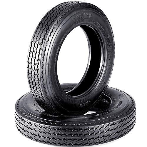 Set of 2 VANACC 4.80x12 4.80-12 480x12 Boat Trailer Tires Load Range C 6PR