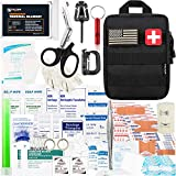 10. Falcon Medi-Tac 200 Pieces First Aid Kit IFAK Survival Kit Molle System Compatible Pouch, Emergency Kit Gift for Men, Dad, Husband, for Outdoor, Camping, Hunting, Hiking, Home, Earthquake, Disasters
