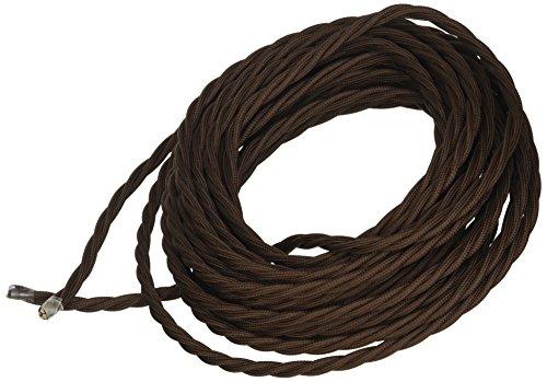 potente para casa merlotti 40293 3 x 1,50, marrón, cable eléctrico trenzado de 10 m