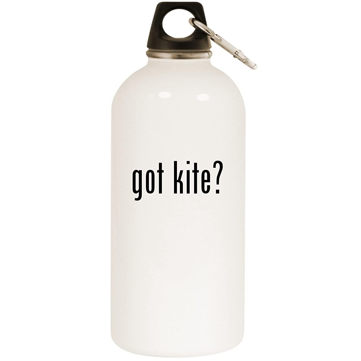 Molandra Products got Kite? - White 20oz Stainless Steel Water Bottle with Carabiner