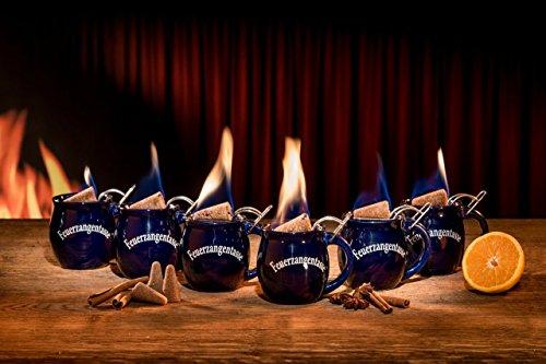 Feuerzangentasse 6er im Karton, Blau - für Feuerzangenbowle