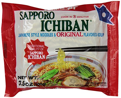 Sapporo Ichiban Noodle Instant Bag, Original, 3.5 Ounce - PACK OF 96