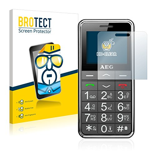 BROTECT Schutzfolie kompatibel mit AEG Voxtel SM250 (2 Stück) klare Bildschirmschutz-Folie