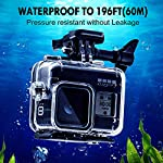 Waterproof Housing Case for GoPro Hero 8, 60M Diving Protective Housing Shell for Gopro Hero 8 Black Action Camera… 9 196FT/60M Gopro 8 Diving Case: Designed with waterproof seal and tightened buckle, REDTRON waterproof housing shell helps to prevent to water leakage effectively. You can use your Gopro Hero 8 to record underwater activities up to 196FT/60M without worrying about the leakage. HD Scratch-proof & Clear Shooting Underwater: The lens of Gopro 8 underwater photography housing is made of ultra-thick transparent tempered glass with with high light transmission which protect your Gopro 8 lens from being scratched and provides you a good shooting results. Upgraded Quick Release Buckle Mount: REDTRON protective housing case for Gopro 8 comes with a quick release buckle mount with 2 type screws. You can attach your Grpro 8 black to accessories such as tripod, bicycle mount, suction cup mount. (Note: accessories are NOT included)
