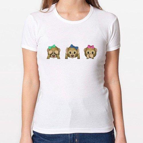 Positivos Chica/Mujer Camiseta Monos - S