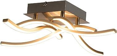 COSTWAY Plafonnier Dimmable à 4 Platines LED de 3,6W et 1300Lm, 110V-240V, IP20 Fait en Fer et Aluminium pour Chambre à Couch