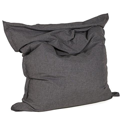 Alterego - Pouf géant ' PILO ' en tissu chenille gris anthracite 135x175 cm
