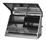 Montezuma – ME300AL – 30-Inch Portable TRIANGLE Toolbox – Multi-Tier Design – Heavy-Duty Tread Brite Aluminum Construction – SAE and Metric Storage Chest – Weather-Resistant – Lock and Latching System