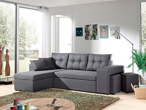Bestmobilier - California - Canapé d'angle réversible et Convertible avec Coffre de Rangement -...