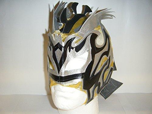 WRESTLING MASKS UK Gelb Gold–Deckenleuchte Zip Up Kinder Maske