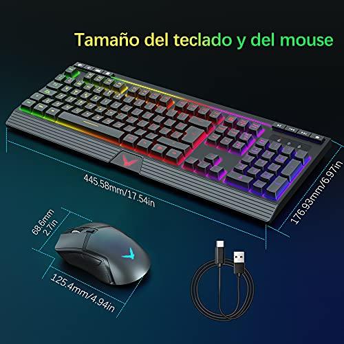TopMate Packs de teclado y ratón para gamers