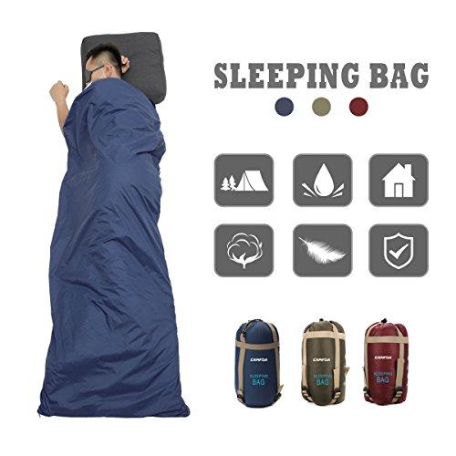 CAMTOA ultraleicht, klein, warm Schlafsack Hüttenschlafsack Schlafsack Inlett, Outdoor Wasserdicht...