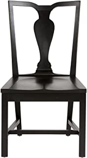 Ethan Allen Maddox Wood-Seat Side Chair, Charcoal