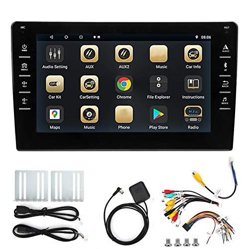 Car Navigator, 8in Universal Large Touch Screen GPS Navigator 16GB WiFi Blue tooth F-M Quad Core High Definition Car Multimeda Player para Android 9.1