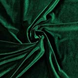 """Barcelonetta   Stretch Velvet Fabric   90% Polyester 10% Spandex   60"""" Wide   Sewing, Apparel, Costume, Craft (Hunter Green, 2 Yards)"""