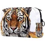 Kit de Maquillaje Neceser Tigre Animal Make Up Bolso de Cosméticos Portable Organizador Maletín para Maquillaje Maleta de Makeup Profesional 18.5x7.5x13cm