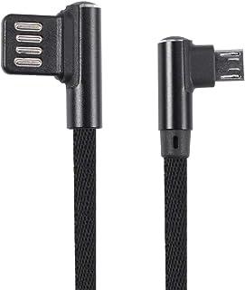 Hemobllo Cabo micro USB carregador Android trançado 90 graus ângulo reto cabo de carregamento compatível com celular Kindl...