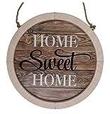 Letrero de madera natural, Home Sweet Home,con cordon de yute para colgar, aprox. 32 cm.