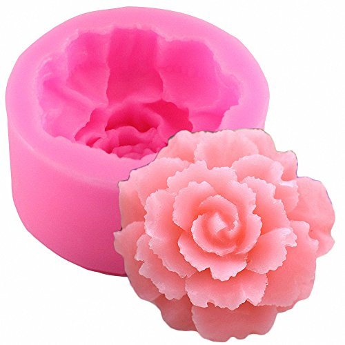 3D Carnation Candle Mold - MoldFun Carnation Flower Silicone Mold for Handmade Soap, Lotion Bar, Bath Bomb, Wax Crayon, Polymer Paper Fimo Clay, Art Craft Gift for Mother's Day