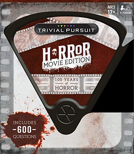 USAOPOLY Quick Play Trivial Pursuit: Horror Movie Edition, Questions from Classic Horror Films, Board Game for Fans of Horror Movies