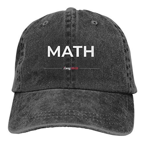 RFTGB Gorras Unisex Accesorios Sombreros Gorras de béisbol Sombreros de Vaquero Andrew Yang 2020 Math Denim Baseball Cap, Unisex Vintage Dad Hat, Golf Hats, Adjustable Plain Cap
