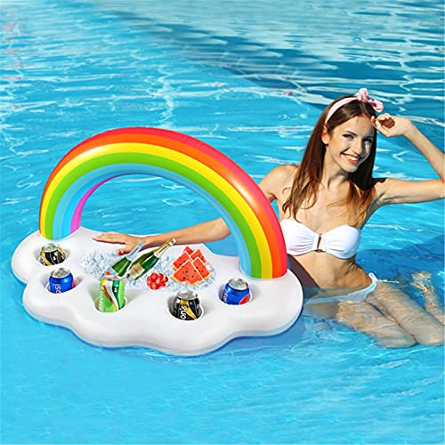 Magent Barra Hinchable Piscina - Posavasos Flotador para Bebidas - Titular de Bebida Inflable - Soporte Hinchable para Fiesta de Piscina