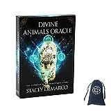 Divinos Animales Oracle Tarjetas con Bolsa de Terciopelo,Divine Animals Oracle Cards