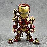 YXCC Figura de acción de Iron Man Estatua de Iron Man de Control por Voz Versión Q del Iron Man Acti...