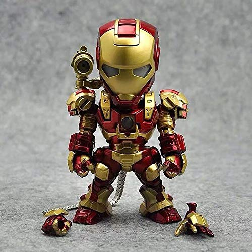 YXCC Figura de acción de Iron Man Estatua de Iron Man de Control por Voz Versión Q del Iron Man Activado por Voz