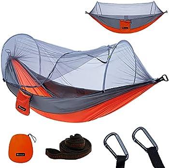 Yoomo Portable Lightweight Parachute Nylon Hammock with Tree Straps