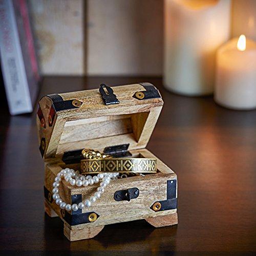 Casa Vivente Geschenkset zur Hochzeit – Sektgläser und große Schatztruhe mit Gravur – Motiv Ringe – Personalisiert mit Namen und Datum – Hochzeitsgeschenke für Brautpaar - 9