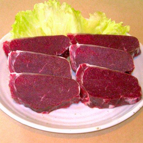【北海道食美楽】ヘルシー鹿肉 セ・ロースステーキ(450g)