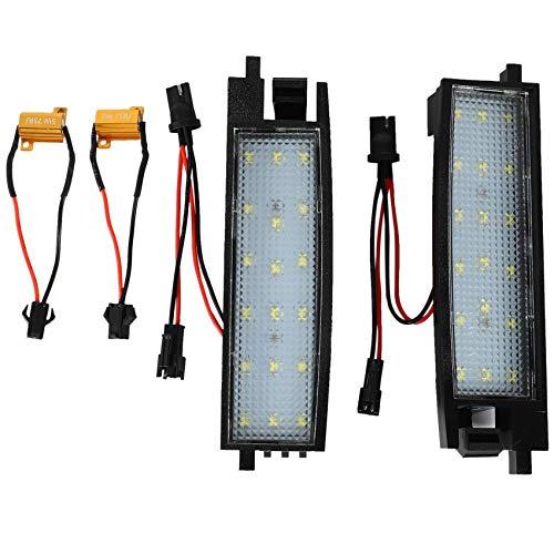 Nrpfell LáMparas de Luz de MatríCula de NúMero LED para Accesorios de AutomóVil RAV4 Auris