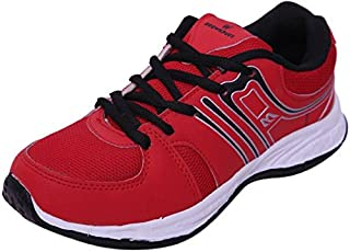 Twd Girls' Maroon Mesh Sports Shoe