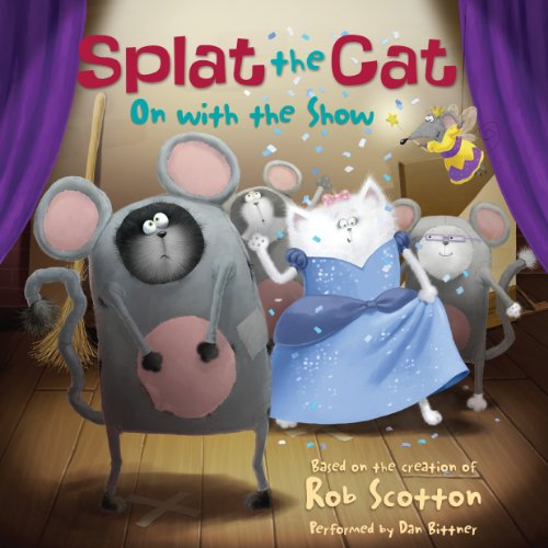 Splat the Cat: On with the Show audiobook cover art