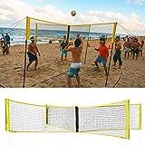 Portable Croce Beach Volleyball Net - Portable Size Ufficiale Standard Interni Esterni Allenamento Attrezzatura Badminton Tennis Pallavolo Net (150 X 50 Cm) A