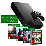 Microsoft Xbox One X, schwarz - Metro Exodus Bundle + Tom Clancy's The Division 2 Limited Edition - [Xbox One]