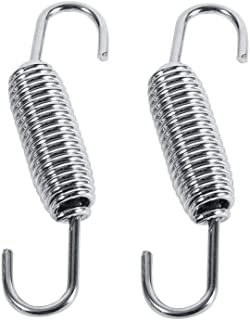 Motorcycle Exhaust Pipe Spring, 2 PCS Stainless Steel Superior Strength Rotatable Exhaust Springs Exhaust Pipe Spring