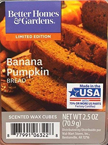Better Homes and Gardens Banana Pumpkin Bread Scented Wax Cubes, NET WT 2.5 OZ